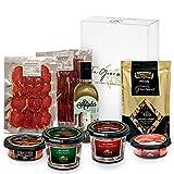 GOURMET BOX   Picoteo   Cesta Gourmet Regalo con Productos Ibéricos Delicatessen   Picos Artesanos y Aceite de Oliva virgen extra   Regalos Gourmet