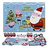 Undercover PIGP8024 Adventskalender für Kinder mit 24 Schreibwaren Überraschungen, niedliches Peppa Pig Motiv, ca. 45 x 32 x 3 cm