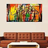 Impresiones en Lienzo Arte Abstracto Sala de Estar Mural Abstracto Gran Imagen Moderna decoración Pintura sin Marco 75x150cm
