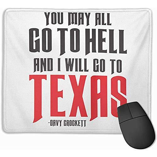 Simpatico tappetino per mouse da gioco, tappetino per mouse da scrivania, tappetino per mouse Humor Davy Crockett Texas Lone Star Lizzie Famous Alamo