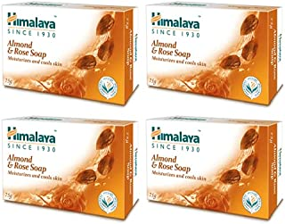 Himalaya Almond & Rose Soap Moisturizing And Cools Skin (Pack Of 4)