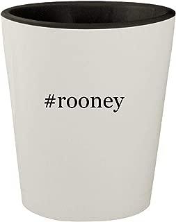#rooney - White Outer & Black Inner Hashtag Ceramic 1.5oz Shot Glass