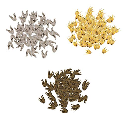 1500 Pieces Flower Bead Caps Adjustable Beading Caps for Bridal Wedding Hair Jewelry, for Sewing Crafts Clothes Dress Ornaments DIY Bracelets Earrings Rings Necklaces