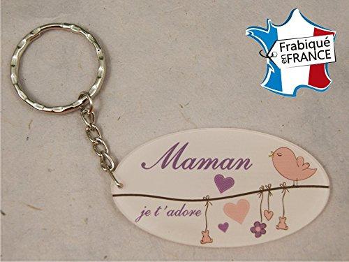 Porte Clef - Maman je t'adore (Cadeau Baptême, fête des mères, anniversaire, Noël …)