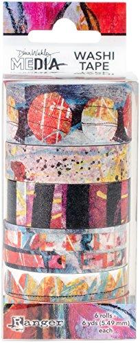 Ranger MDA59981 Dina Wakley Media Number 2 Washi Tape Papier Multicolore 13 x 5,2 x 5,2 cm