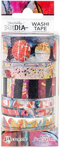 Ranger Dina Wakley Media N°2 Washi Tape Papier Multicolore 13 x 5,2 x 5,2 cm