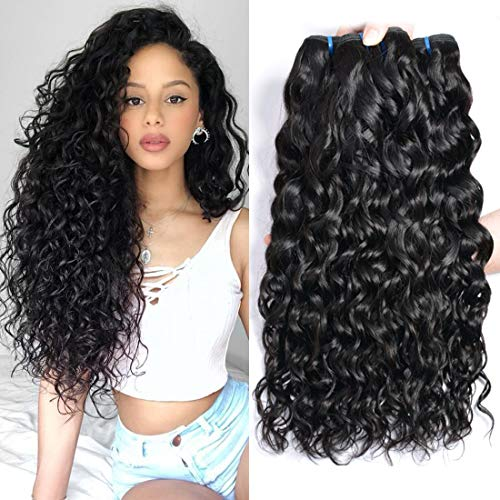 ur Beautiful 8A Brazilian Hair 3 Bundles Curly Human Hair Bundles Water Wave Hair Brasilianisches lockiges Haar 100% jungfrau Brasilianische Haare 18 20 22 Zoll Natural Color insgesamt 300g
