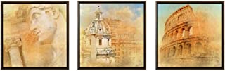 Sumeru Art Oil Painting Hand Painted Stretched Framed Roman Architecture1 Modern Abstract Painting Canvas Living Room Bedroom Office Wall Art Home Decoration