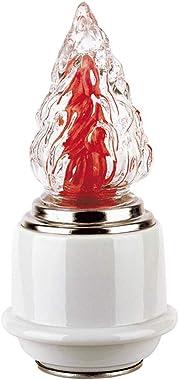 REAL VOTIVA FONDERIE D'ARTE Lampe en Porcelaine pour Pierres tombales - Ligne Saturno (20 cm, au Sol) [T.04.5855/20]