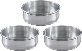 Stackable Dough Pan, 48oz, Alu, SET OF 3