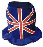 Tall British Flag Novelty Wild Crazy Plush Hat