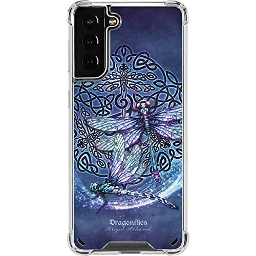 Skinit Clear Phone Case Compatible with Galaxy S21 Plus 5G - Tate and Co. Dragonfly Celtic Knot Design