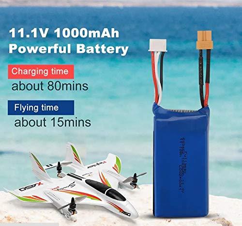 Absir Batería XK X450 VTOL RC Avión ala Fija 3S 11.1V 1000mAh 20C Lipo Batería Batería de Litio