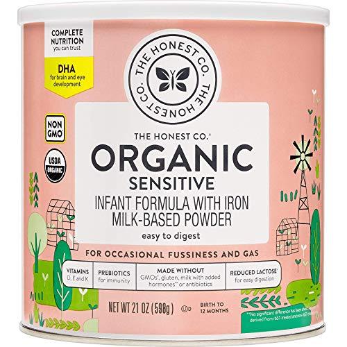 The Honest Company Organic Sensitive Formula with Dha, Sensitive, 21 Ounce