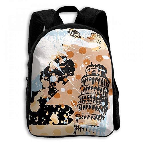 ADGBag Paris Tower Pisa Italian Student School Backpacks Canvas Book Bag Casual Daypack Travel For Children Mochila para niños