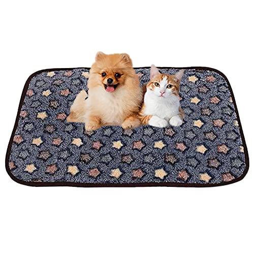 Hundedecke Kuscheldecke,Katzendecke mit Pfoten,Waschbare Hundedecke,Liegedecke für Hunde,Teppich Waschbar Haustiere,Decke Hund,Flauschige Haustierdecke(Blau)