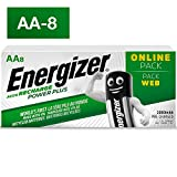 Energizer Rechargeable Batteries AA, Recharge Power Plus, Pack of 8