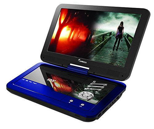 Check Out This Impecca 10.1 Inch Portable DVD Player- Blue DVD Player with 6 Hour Rechargeable Batte...