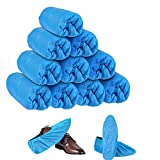 SHEEFLY 200 Pack Disposable Boot Shoe Covers,Waterproof Non-Toxic Shoe Booties, Durable Recyclable Shoe
