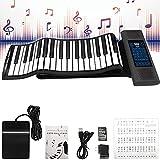 MaSYZBF Piano Enrollable Teclado de Piano para niños 88 Teclas Piano electrónico Teclado de música de Karaoke portátil con Bluetooth Juguetes educativos para Principiantes Niñas Niños Niños