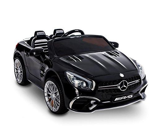 MEDIA WAVE store Macchina elettrica LT872 per Bambini Mercedes SL 65 AMG con Display Digitale. (Nero)