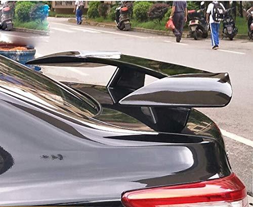 XTT Suitable for Jaguar Hyundai Nissan Universal Car Rear Spoiler/ABS Tail Trunk Racing Wing Spoiler, Punch Installation, Black