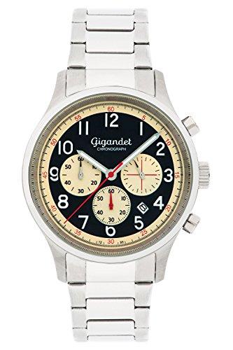 Gigandet Herrenuhr Chronograph Quarz Analog mit Edelstahlarmband G50-005