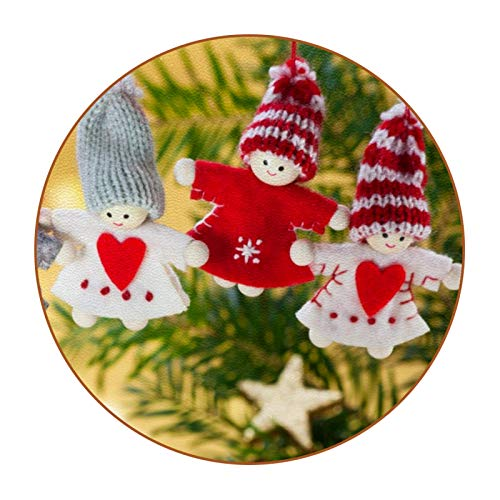 Custom Coasters Christmas Tree Doll Drink Coaster (6-Piece Set), Housewarming Hostess Gifts Decor, Wedding Registry, Room Decorations, Customizable Picture and Text 4.3 in