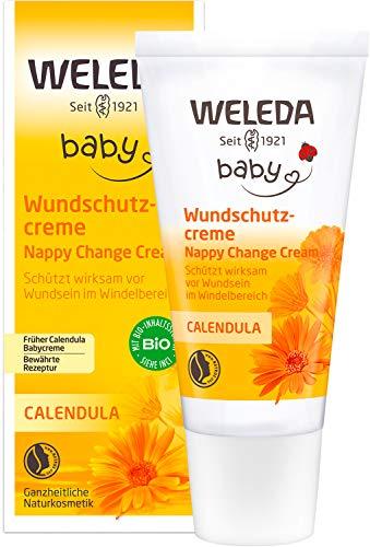 WELEDA Baby Calendula Wundschutzcreme / Babycreme, Naturkosmetik Wundsalbe für den Schutz empfindlicher Babyhaut im Windelbereich. Hilft bei Rötungen, gereizter Haut und Wundsein (1 x 30ml)