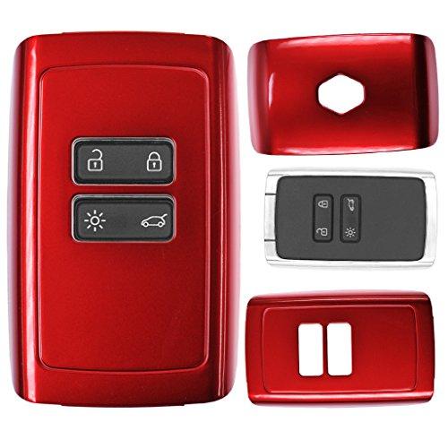Schlüssel Karte Fernbedienung Hülle Hartschale Cover Rot für Renault Megane Kadjar Clio Captur