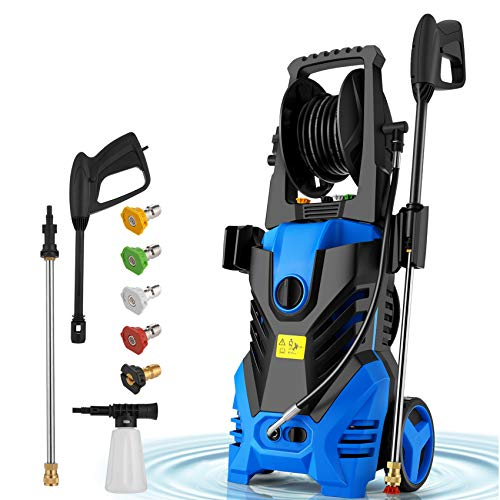 Homdox 2850PSI Pressure Washer,1.7GPM Electric Pressure Washer,1800W High Car Pressure Washer,Power Washer with Hose Reel, Adjustable Nozzle, Soap Bottle