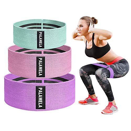 PALAMELA Resistance Bands for Legs and Butt, Sports Fitness Bands Resistance,Workout Bands,Booty Bands, Women/Men Stretch Exercise Loops, Band Anti Slip Elastic (Set 3)