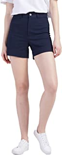 Shorts Chino for Women Elastic High Waisted Regular Fit...
