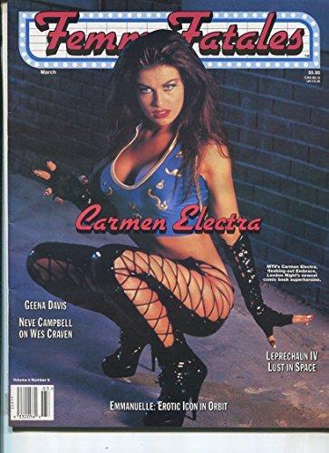 Femme Fatales Vol.5#9 March 1997 Geena Davis Carmen Electra Neve Campbell MBX40