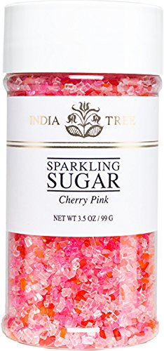 India Tree Cherry Pink Sparkling Sugar, 3.5 Ounce