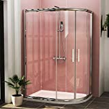 <span class='highlight'>1200</span> x <span class='highlight'>800</span><span class='highlight'>mm</span> R/H Offset <span class='highlight'>Quadrant</span> <span class='highlight'>Shower</span> Cubicle with Tray 6<span class='highlight'>mm</span> Tempered Glass Sliding Door <span class='highlight'>Shower</span> <span class='highlight'>Enclosure</span>