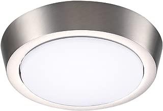 GetInLight 5 Inch Flush Mount LED Ceiling Light with ETL Listed, Soft White 3000K, Brushed Nickel Finish, IN-0302-1-SN