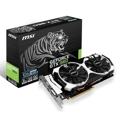 MSI V320-006R GTX960 NVIDIA 2GD5T OC Grafikkarte (PCI-e, 2GB GDDR5, HDMI, DVI, 1 GPU)