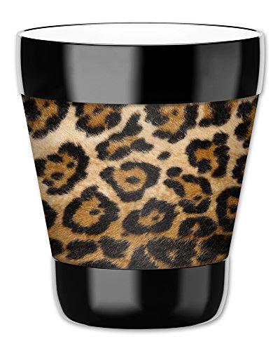 Mugzie Gobelet Boisson Tasse avec amovible isotherme plongée Coque–A POIS Léopard, plastique, multicolore, 12 ounce