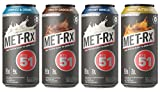 MET Rx RTD 51 High Protein Shakes (4 Flavor Variety Pack, 12)