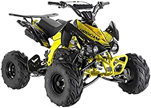 X-PRO 125cc ATV Quad Youth 4 Wheeler Adults ATVs Quads Middle Size 4 Wheelers ,Yellow