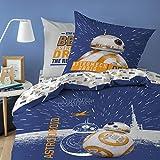 Star Wars BB8 Parure, 100% cotone, bianco, 140 x 200 + 63 x 63 cm.