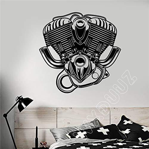 ShiyueNB Vinyl muurtattoo motorfiets toerental auto reparatie sticker kunst muursticker decoratie verwijderbare muursticker 58x58 cm