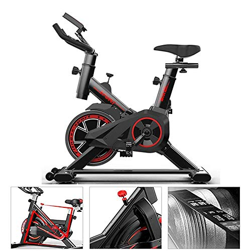 Starsmyy Magnetisch gestuurde hometrainer, stille fiets met riemaandrijving, verstelbare sportfiets met LCD-monitor, draagvermogen 150 kg