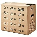 Ikea DUNDERGUBBE - Cajas de mudanza (2 unidades, 50 x 31 x 40 cm), color marrón