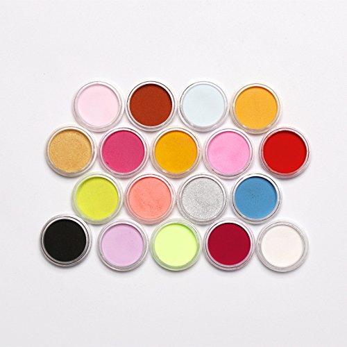 250g UV epoxyhars + 18 pigment poeder meerkleurig + 12 vormen + 100 ogen 18 Pigmenten