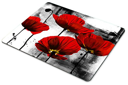 Smooffly Beautiful Vintage Poppy Flower Ink Painting Art Design Mouse Pad 9.5X7.9 inches Photo #6