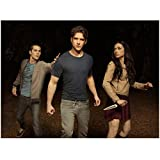 Teen Wolf Dylan O'Brien reaching for Tyler Posey and Crystal Reed 8 x 10 Inch Photo