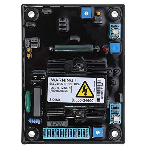 Regulador de Voltaje 220v Generador de Escobillas Automatico, SX460 AVR Regulador Voltaje Ajustable Fuente Alimentación Corriente Continua AC DC
