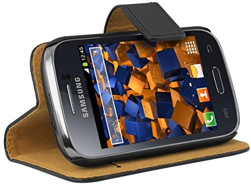 mumbi Samsung-Galaxy-Young-Bookstyle-Case - Funda para móvil Samsung Galaxy Young, Negro